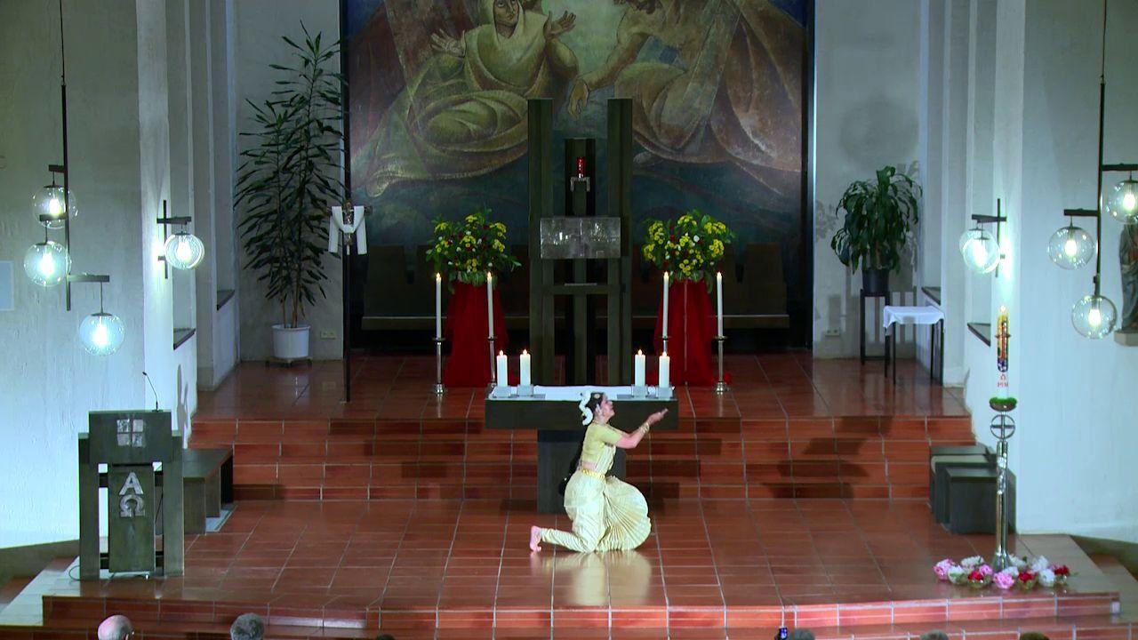Tanzveranstaltung: 7. Juni 2014, zu Werken von Johann Sebastian Bach in der Taborkirche, Freudenstadt, Baden-Württemberg, an der Rieger-Orgel: KMD Karl Echle